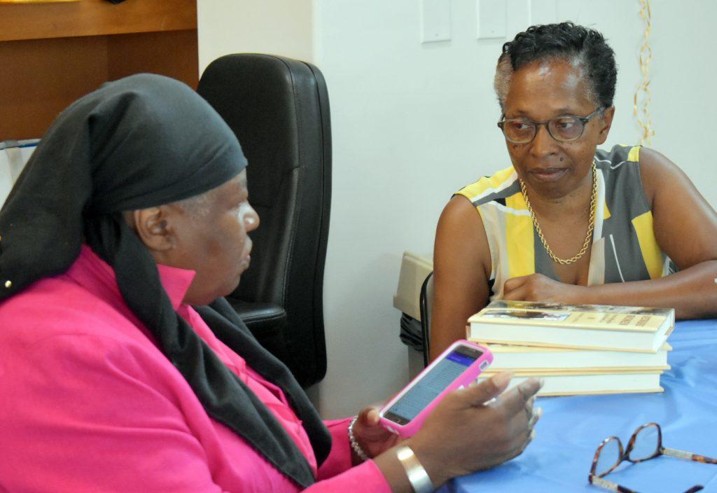 2 women talk